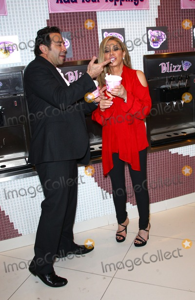 Adrienne Maloof Photo - 14 January 2012 - Las Vegas, Nevada - Paul Nassif, Adrienne Maloof.  The Real Housewives of Beverly Hills walk the red carpet in celebration of the grand opening of the newest Blizz Frozen Yogurt at the MGM Grand  Resort Hotel and Casino.  Photo Credit: MJT/AdMedia
