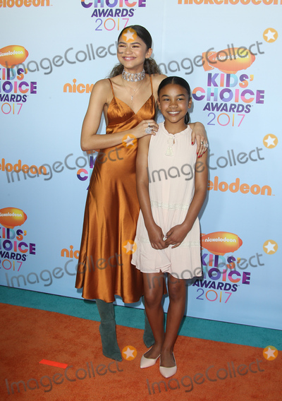 Photo - 11 March 2017 -  Los Angeles, California - Zendaya, Kaylee Stoermer Coleman. Nickelodeon's Kids' Choice Awards 2017 held at USC Galen Center. Photo Credit: Faye Sadou/AdMedia
