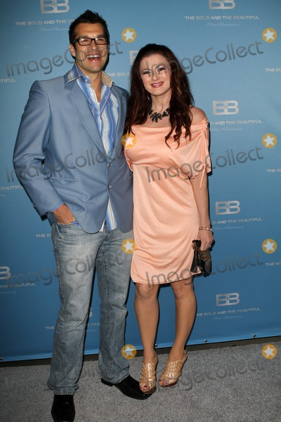 "Brendon Villegas, Rachel Reilly Photo - 10 March 2012 - Los Angeles, California - Brendon Villegas, Rachel Reilly. 25th silver anniversary party for CBS' ""the bold and the beautiful"" - silver carpet Held At Hill Street. Photo Credit: Kevan Brooks/AdMedia"