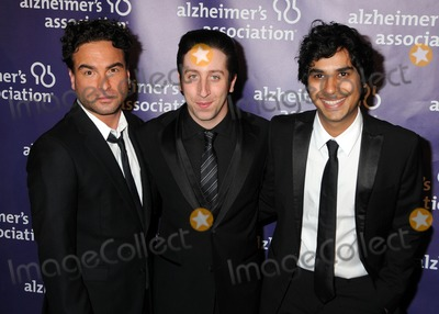 "Johnny Galecki, Kunal Nayyar, Simon Helberg Photo - 16 March 2011 - Beverly Hills, California - Johnny Galecki, Simon Helberg and Kunal Nayyar. 19th Annual ""A Night at Sardi's"" Benefiting the Alzheimer's Association held at the Beverly Hilton Hotel. Photo: Byron Purvis/AdMedia"