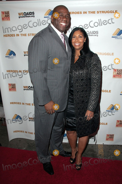 "Earvin Magic Johnson, Cookie Johnson, Earvin ""Magic"" Johnson, Earvin 'Magic' Johnson, Magic Johnson, ""Magic"" Johnson Photo - 01 December 2010 - Hollywood, California - Earvin Magic Johnson and wife Cookie Johnson. The 10th Annual Heroes in the Struggle Gala Concert and Awards presented by the Black AIDS Institute and the Magic Johnson Foundation. Photo: Jay Steine/AdMedia"