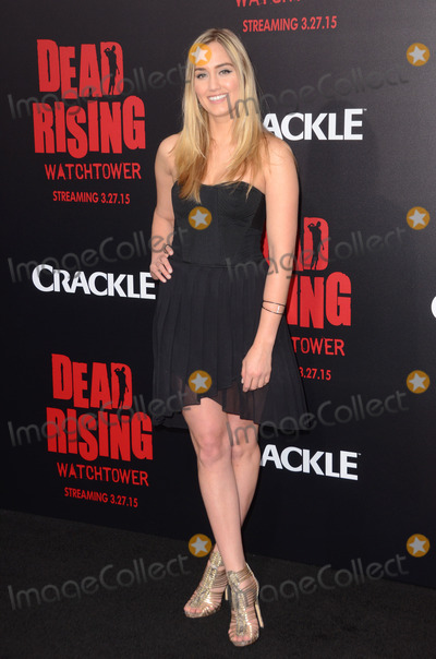 """Naomi Kyle, Kim Novak Photo - 11 March 2015 - Los Angeles, California - Naomi Kyle.  Arrivals for Crackle's world premiere original feature film """"Dead Rising: Watchtower"""" held at the Kim Novak Theater at Sony Pictures Studios. Photo Credit: Birdie Thompson/AdMedia"""
