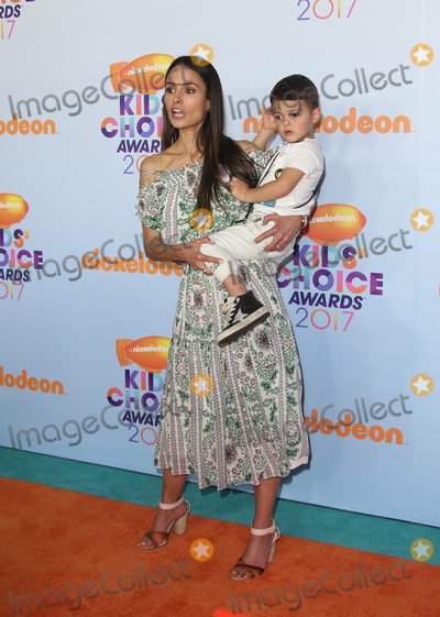 Photo - 11 March 2017 -  Los Angeles, California - Jordana Brewster, Julian Form-Brewster. Nickelodeon's Kids' Choice Awards 2017 held at USC Galen Center. Photo Credit: Faye Sadou/AdMedia