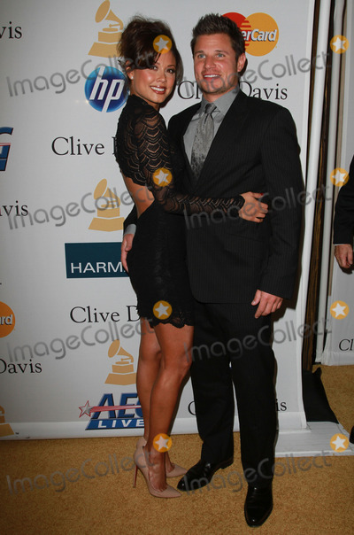 Nick Lachey, David Geffen, VANESSA MINNILO Photo - 12 February 2011 - Beverly Hills, California - Nick Lachey and Vanessa Minnilo. The 53rd Annual GRAMMY Awards - Salute To Icons Honoring David Geffen held At The Beverly Hilton Hotel. Photo: Kevan Brooks/AdMedia