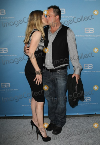 "Scott Martin, Lauralee Bell Photo - 10 March 2012 - Los Angeles, California - Lauralee Bell, husband Scott Martin. 25th silver anniversary party for CBS' ""the bold and the beautiful"" - silver carpet Held At Hill Street. Photo Credit: Kevan Brooks/AdMedia"