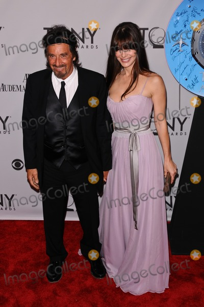 Al Pacino, Lucila Sola, Christopher Smith Photo - 12 June 2011 - New York City, NY - Al Pacino, Lucila Sola.  The 2011 Tony Awards held at The Beacon Theater. Photo Credit: Christopher Smith/AdMedia