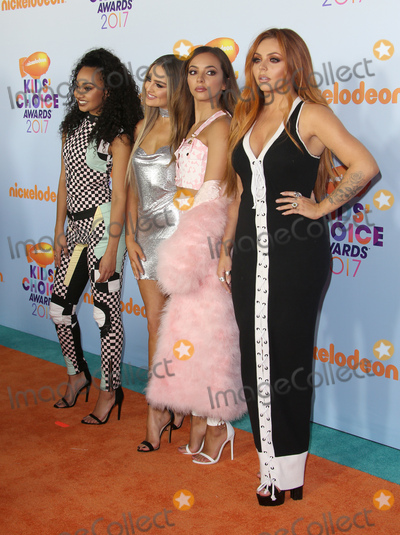 Little Mix, Perrie Edwards, Jesy Nelson, Jade Thirlwall, Leigh-Anne Pinnock, Leigh-Ann Pinnock, Jade Thirlwal Photo - 11 March 2017 -  Los Angeles, California - Leigh-Anne Pinnock, Perrie Edwards, Jade Thirlwall, Jesy Nelson, Of singing group Little Mix. Nickelodeon's Kids' Choice Awards 2017 held at USC Galen Center. Photo Credit: Faye Sadou/AdMedia