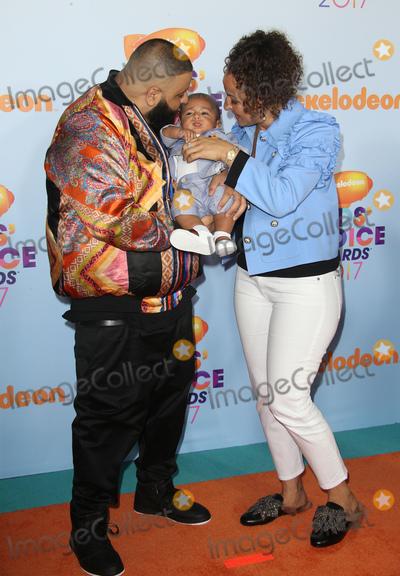 Photo - 11 March 2017 -  Los Angeles, California - DJ Khaled, Nicole Tuck, Asahd Tuck Khaled. Nickelodeon's Kids' Choice Awards 2017 held at USC Galen Center. Photo Credit: Faye Sadou/AdMedia