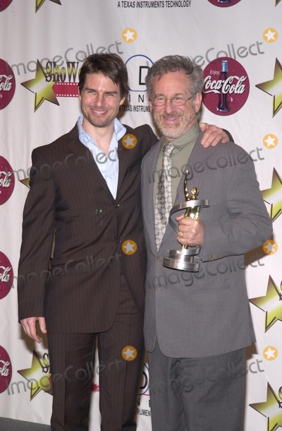 Tom Cruise, Steven Spielberg Photo - Tom Cruise and Steven Spielberg at the 2002 ShoWest Gala Awards Banquet and Press Conference, Paris Hotel, Las Vegas, 03-07-02