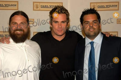 "Mark McGrath, Carl Wilson, Brian Wilson Photo - Mark McGrath with members of Wilson family at Carl Wilson Foundation presents an evening with ""Brian Wilson and Friends"", UCLA's Royce Hall, Westwood, Calif., 10-16-03"