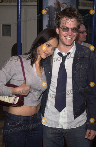 "Jessica Alba, Michael Weatherly Photo -  Jessica Alba and Michael Weatherly at the premiere of Paramount's ""LARA CROFT: TOMB RAIDER"" at Mann's Village Theater, Westwood, 06-11-01"