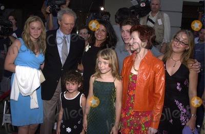 "Clint Eastwood, Frances Fisher Photo - Clint Eastwood with wife Dina, children Scott, Kathryn, Francesca and Morgan, along with Frances Fisher at the premiere of Warner Brothers ""Blood Work"" at Steven J. Ross Theter, Warner Brothers Studios, Burbank, CA 08-06-02"
