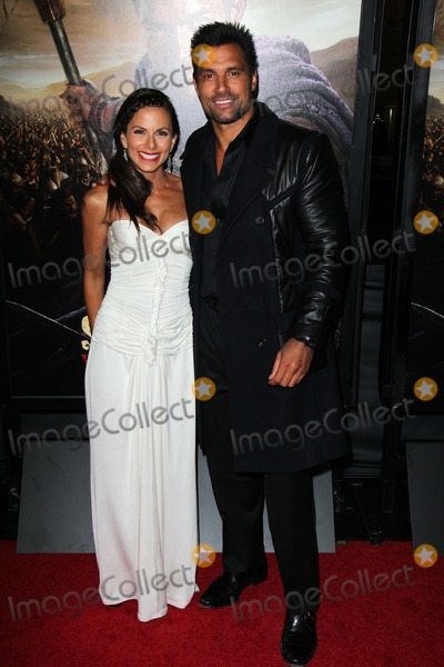 """Damned, The Damned, Manu Bennett Photo - Manu Bennett, Karin Horen at the """"Spartacus: War Of The Damned"""" Los Angeles Premiere, Regal Cinemas, Los Angeles, CA 01-22-13"""