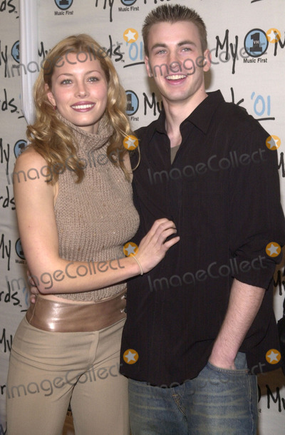 Jessica Biel, Chris Evans Photo - Jessica Biel and Chris Evans at the 2nd Annual My VH1 Music Awards, Shrine Auditorium, Los Angeles, 12-02-01