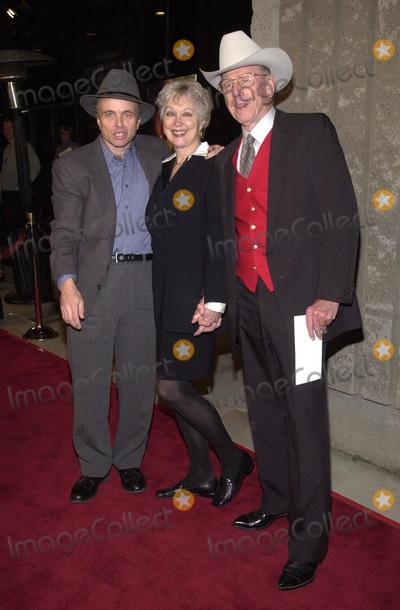 "Clint Howard, Rance Howard, Samuel Goldwyn Photo -  Clint Howard with stepmom Judy and dad Rance Howard at the premiere of the Universal/Dreamworks/Imageine film ""A Beautiful Mind"" at the Academy of Motion Picture Arts and Sciences Samuel Goldwyn Theater, Beverly Hills, 12-13-01"
