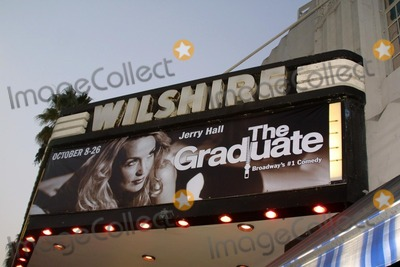"Photo - Theater Sign at the Opening Night of ""The Graduate"" at the Wilshire Theater, Beverly Hills, CA 10-08-03"