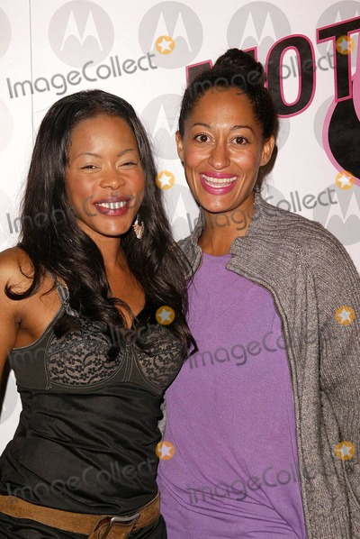 Golden Brooks, Tracee Ellis Ross, Tracee Ross Photo - Golden Brooks and Tracee Ellis Ross at Motorola's 5th Anniversary Party for Toys for Tots, Private Location, Culver City, CA 12-05-03