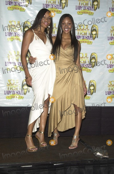 LaMyia Good, Train, Megan Good, Megan Goode Photo - Megan Goode and sister Lamyia Good at the 9th Annual Soul Train Lady of Soul Awards Press Room, Pasadena Civic Auditorium, Pasadena, CA 08-23-03
