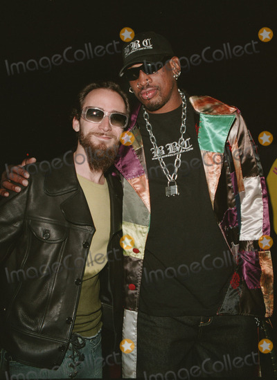 "Dennis Rodman Photo -  DENNIS RODMAN AT GAY PORN EVENT at the afterparty for the premiere of ""Full Frontal,"" at Mickey's, West Hollywood, 02-08-01"