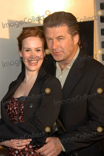 "Sarah Paulson, Alec Baldwin Photo - Sarah Paulson and Alec Baldwin at the premiere of Lions Gate's ""The Cooler"" to launch the 2003 IFP Film Festival, ArcLight Cinerama Dome, Hollywood, CA 06-11-03"