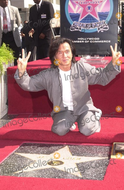 Jackie Chan Photo - Jackie Chan at Chan's Star on the Hollywood Walk of Fame ceremony, Hollywood, CA 10-03-02