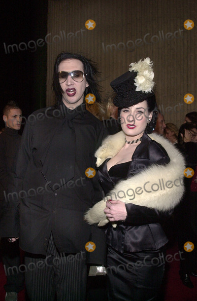 "Marilyn Manson, Dita Von Teese Photo - Marilyn Manson and Dita Von Teese at the premiere of Columbia Pictures ""Not ANother Teen Movie"" at the GCC Avco Center Cinema, Westwood, 12-07-01"