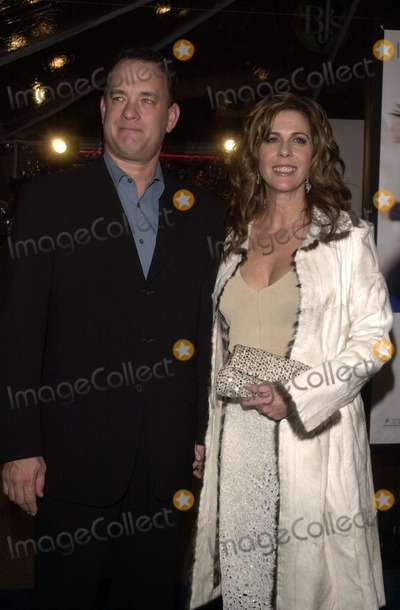 "Tom Hanks, Rita Wilson Photo - Tom Hanks and Rita Wilson at the premiere of Dreamwork's ""Catch Me If You Can"" at Mann Village Theater, Westwood, CA 12-16-02"