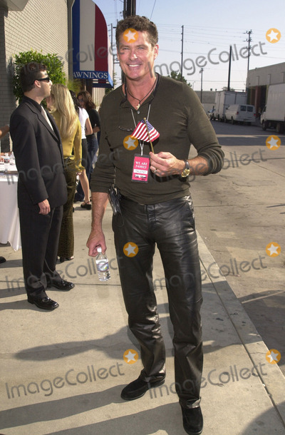 "911, Tragedie, David Hasslehoff Photo -  DAVID HASSLEHOFF at the celebrity recording of ""We Are Family"" to benefit the victims of New York's 9-11 tragedy, 09-23-01"