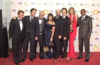"Photo - Cast of ""The West Wing"" at the 54th Annual Emmy Awards Press Room, Shrine Auditorium, Los Angeles, CA 09-22-02"