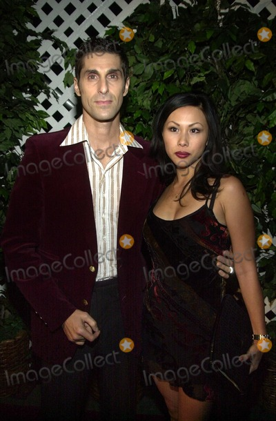 Perry Farrell, Dean Martin, The Shore Photo - Perry Farrell and wife Etty at the Style By The Shore outdoor concert and fashion show to benefit Heal The Bay, Dean Martin Estate, Malibu, CA 10-12-02
