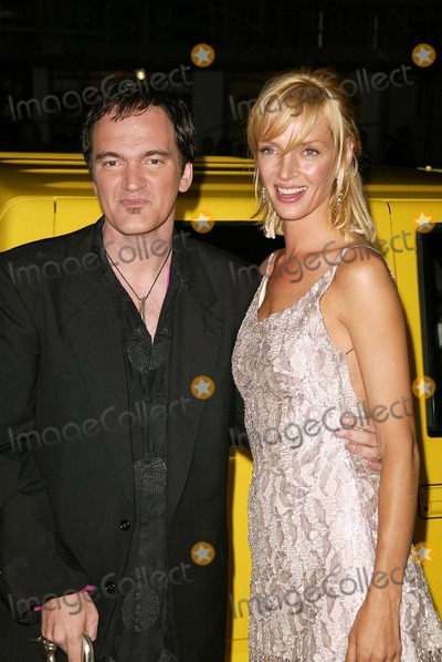 "Quentin Tarantino, Uma Thurman Photo - Quentin Tarantino and Uma Thurman at the Los Angeles premiere of Miramax's ""Kill Bill Vol. 1"" at the Chinese Theater, Hollywood, CA 09-29-03"