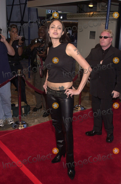 "Angelina Jolie, ANGELINA JOLIE, Photo -  Angelina Jolie at the premiere of Paramount's ""LARA CROFT: TOMB RAIDER"" at Mann's Village Theater, Westwood, 06-11-01"