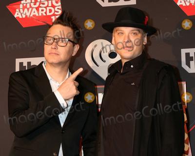 Photo - LOS ANGELES - MAR 5:  Blink-182, Mark Hoppus, Matt Skiba at the 2017 iHeart Music Awards at Forum on March 5, 2017 in Los Angeles, CA