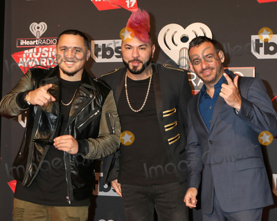 Photo - LOS ANGELES - MAR 5:  IAmChino, Chacal, Jorge Gomez at the 2017 iHeart Music Awards at Forum on March 5, 2017 in Los Angeles, CA
