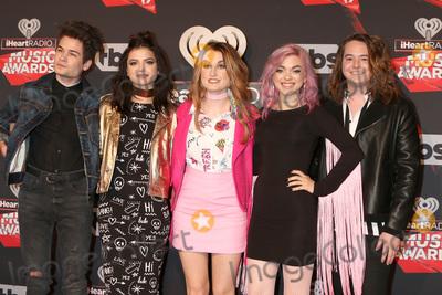 Hey Violet Photo - LOS ANGELES - MAR 5:  Hey Violet, Iain Shipp, Nia Lovelis, Miranda Miller, Rena Lovelis, Casey Moreta at the 2017 iHeart Music Awards at Forum on March 5, 2017 in Los Angeles, CA