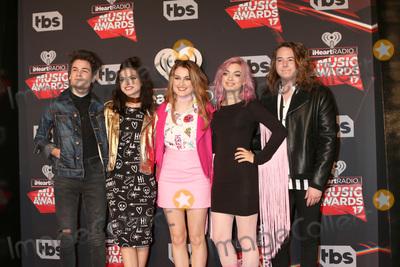 Photo - LOS ANGELES - MAR 5:  Hey Violet, Iain Shipp, Nia Lovelis, Miranda Miller, Rena Lovelis, Casey Moreta at the 2017 iHeart Music Awards at Forum on March 5, 2017 in Los Angeles, CA