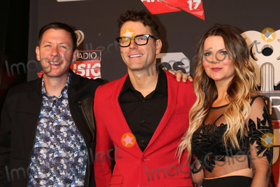 Photo - LOS ANGELES - MAR 5:  Lunchbox, Bobby Bones, Amy Brown at the 2017 iHeart Music Awards at Forum on March 5, 2017 in Los Angeles, CA
