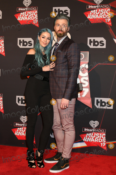 Photo - LOS ANGELES - MAR 5:  Kristen Leanne, Ryan Morgan at the 2017 iHeart Music Awards at Forum on March 5, 2017 in Los Angeles, CA
