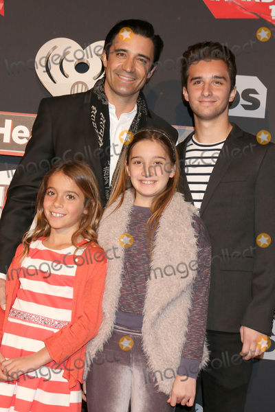 Photo - LOS ANGELES - MAR 5:  Gilles Marini, Georges Marini, Juliana Marini, Guest at the 2017 iHeart Music Awards at Forum on March 5, 2017 in Los Angeles, CA