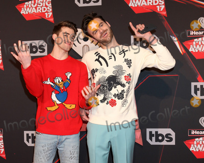 Photo - LOS ANGELES - MAR 5:  The Chainsmokers, Andrew Taggart, Alex Pall at the 2017 iHeart Music Awards at Forum on March 5, 2017 in Los Angeles, CA