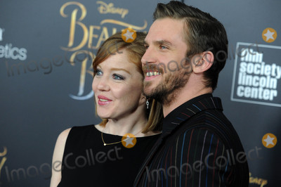 """Dan Stevens Photo - Photo by: Dennis Van Tine/starmaxinc.comSTAR MAX2017ALL RIGHTS RESERVEDTelephone/Fax: (212) 995-11963/13/17Susie Hariet and Dan Stevens at the premiere of """"Beauty And The Beast"""" in New York City."""