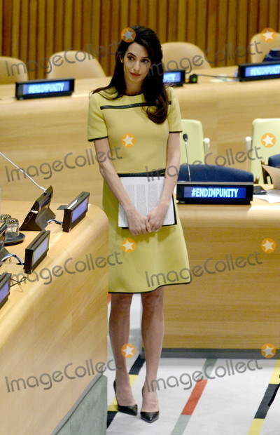 Photo - Photo by: Dennis Van Tine/starmaxinc.comSTAR MAX2017ALL RIGHTS RESERVEDTelephone/Fax: (212) 995-11963/9/17Amal Clooney is seen at The United Nations Headquarters in New York City.