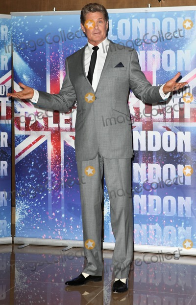 "David Hasselhoff Photo - David Hasselhoff poses for photographers during a press launch for the fifth season of ""Britain's Got Talent"", held at at The Mayfair Hotel. London, UK. 04/13/11."