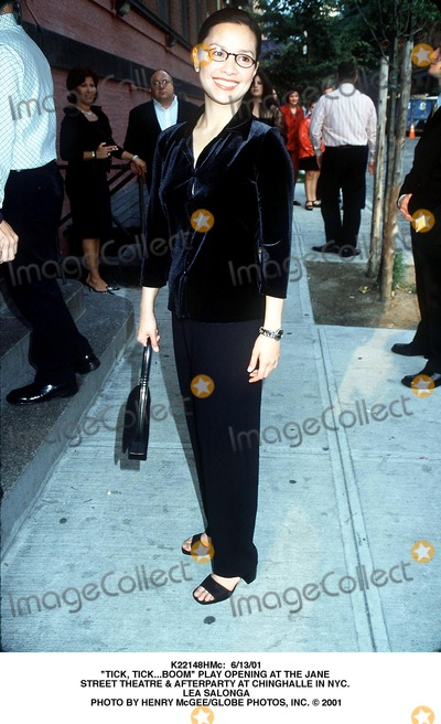 "Lea Salonga Photo - : 6/13/01 ""Tick, Tick...boom"" Play Opening at the Jane Street Theatre & Afterparty at Chinghalle in NYC. Lea Salonga Photo by Henry Mcgee/Globe Photos, Inc."