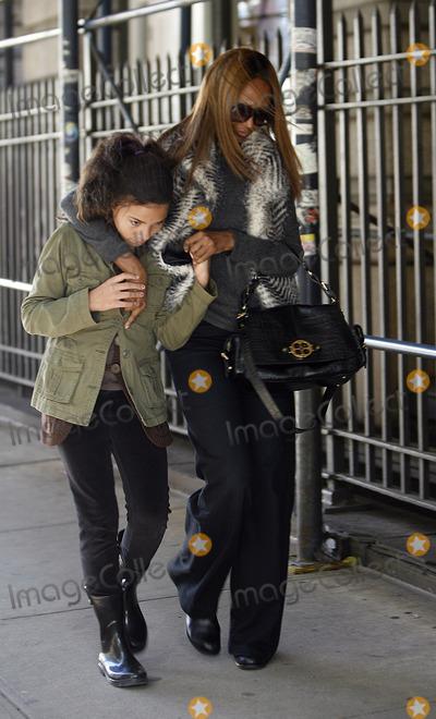 Iman Photo - Model Iman and her daughter Alexandria Zahra Jones