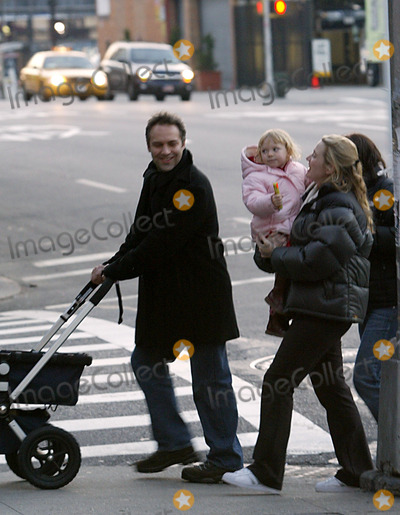 Newborn son joe (born on december 22) for a stroll around a new york