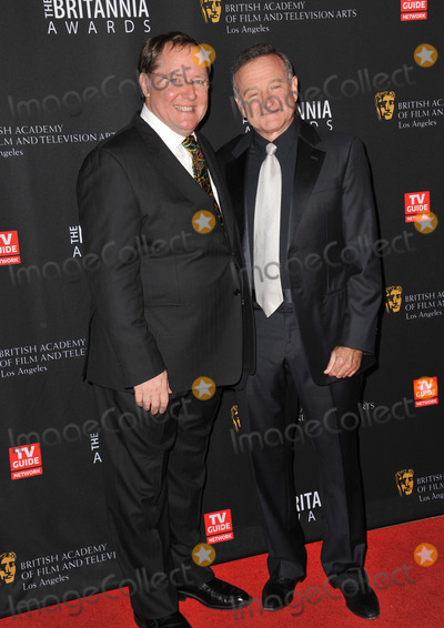 John Lasseter, Robin Williams Photo - Pixar boss John Lasseter (left) & Robin Williams at the 2011 BAFTA/LA Britannia Awards at the Beverly Hilton Hotel.