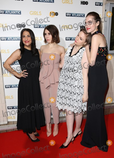 Allison Williams, Lena Dunham, Zosia Mamet, Jenni Konner Photo - Jenni Konner, Zosia Mamet, Lena Dunham, Allison Williams arriving for the Girls - UK premiere of the third series held at the Cineworld Haymarket - Arrivals, London. 15/01/2014 Picture by: Henry Harris / Featureflash