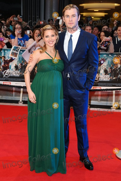 "Elsa Pataky, Chris Hemsworth, Elsa Pataki Photo - Elsa Pataky and Chris Hemsworth arrives for the ""Avengers Assemble"" premiere at the Vue cinema Westfield, London. 19/04/2012 Picture by: Steve Vas / Featureflash"