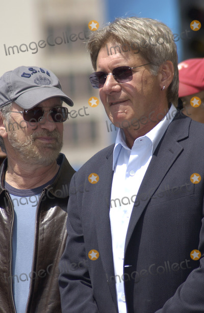 Harrison Ford, Steven Spielberg Photo - Actor HARRISON FORD & director STEVEN SPIELBERG on Hollywood Boulevard where Ford was honored with the 2,226th star on the Hollywood Walk of Fame.